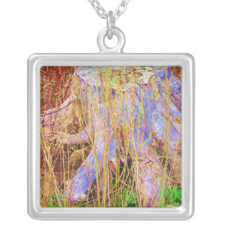 CENTRE ISLAND Beaches TREE TRUNK ART Silver Plated Necklace