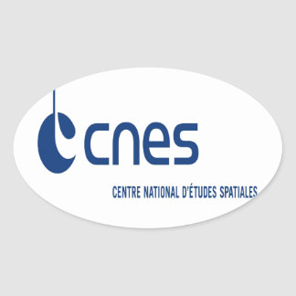 Centre national d'études spatiales oval sticker