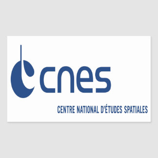 Centre national d'études spatiales rectangular sticker