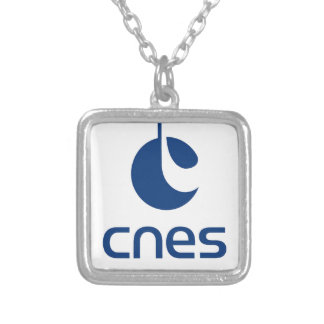 Centre national d'études spatiales silver plated necklace