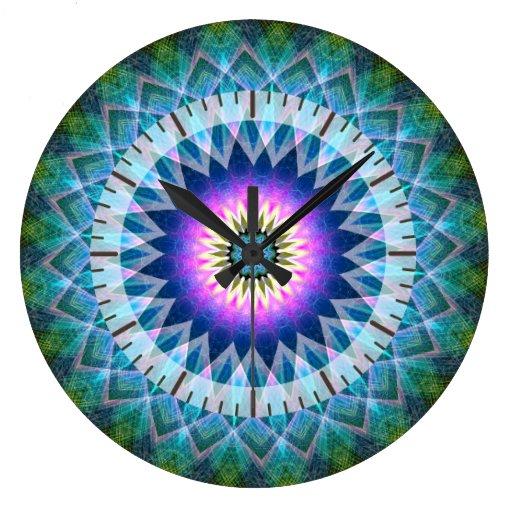 Centre point kaleidoscope wall clock