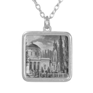 Centre Square and the Marble Water Works by Pavel Silver Plated Necklace