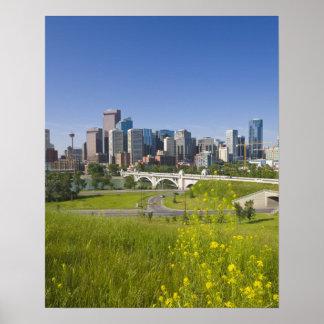Centre St Bridge and Downtown Calgary, Alberta, 2 Poster