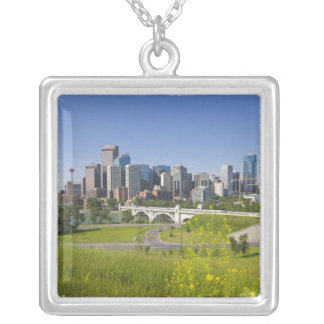 Centre St Bridge and Downtown Calgary, Alberta, 2 Silver Plated Necklace