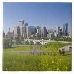 Centre St Bridge and Downtown Calgary, Alberta, 2 Ceramic Tiles