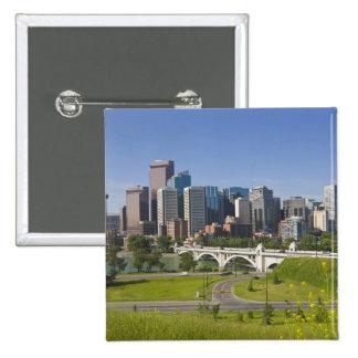 Centre St Bridge and Downtown Calgary, Alberta, 2 Inch Square Button