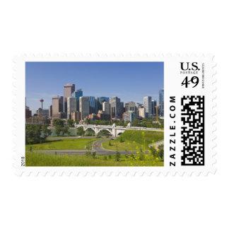 Centre St Bridge and Downtown Calgary, Alberta, Stamp