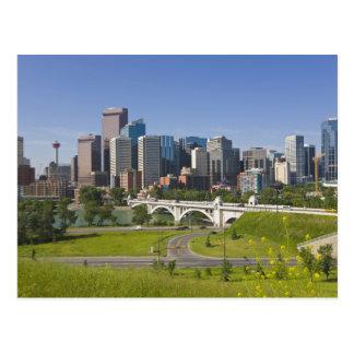 Centre St Bridge and Downtown Calgary, Alberta, Postcard