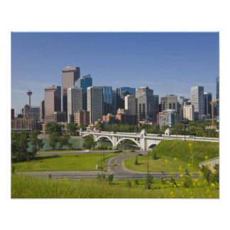 Centre St Bridge and Downtown Calgary, Alberta, Poster