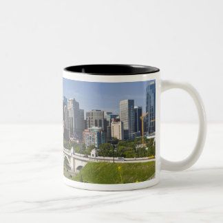 Centre St Bridge and Downtown Calgary, Alberta, Two-Tone Coffee Mug