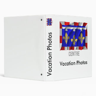 Centre waving flag with name 3 ring binder