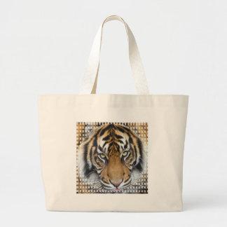Céntrese en meta y rey del tigre de Sumatran del é Bolsa De Mano