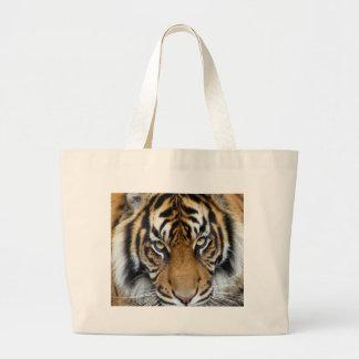 Céntrese en meta y rey del tigre de Sumatran del é Bolsa