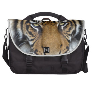 Céntrese en meta y rey del tigre de Sumatran del é Bolsa Para Ordenador
