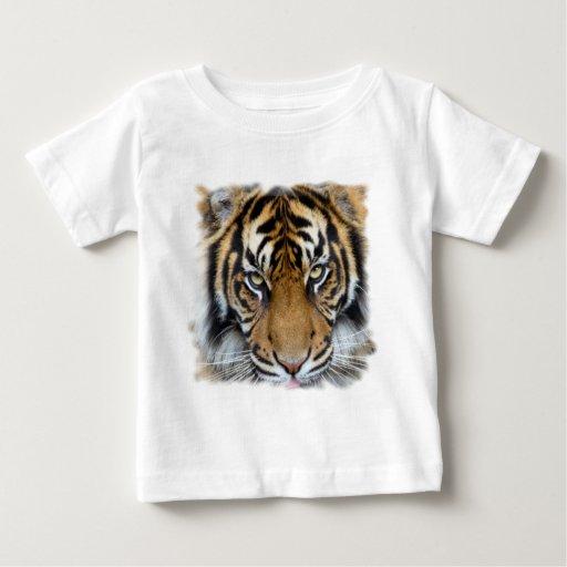 Céntrese en meta y rey del tigre de Sumatran del Playera Para Bebé