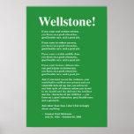 Céntrese en una buena educación, Wellstone 16x24 Póster