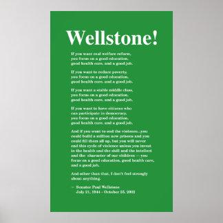 Céntrese en una buena educación, Wellstone 22x36 Póster