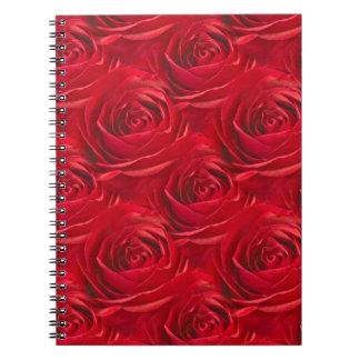 Centro abstracto del papel pintado del rosa rojo libreta espiral