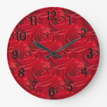 Centro abstracto del papel pintado del rosa rojo reloj redondo grande
