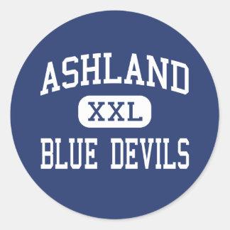 Centro Ashland de los diablos azules de Ashland Etiquetas