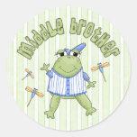Centro Brother de Froggie Pegatina Redonda