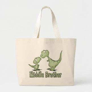 Centro Brother de los dinosaurios Bolsa Tela Grande