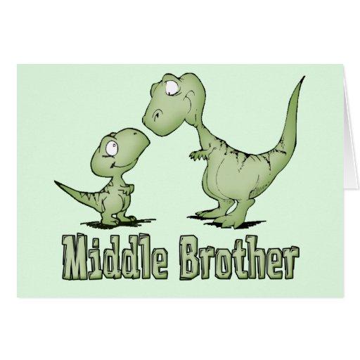 Centro Brother de los dinosaurios Tarjeta Pequeña