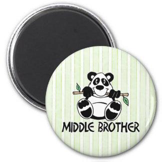 Centro Brother del muchacho de la panda Imán Redondo 5 Cm