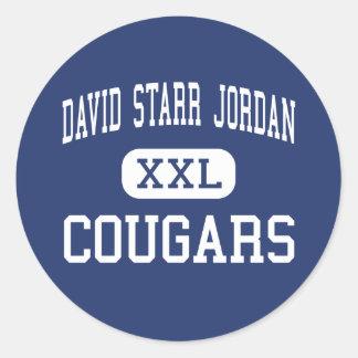 Centro Burbank de los pumas de David Starr Jordani Etiqueta