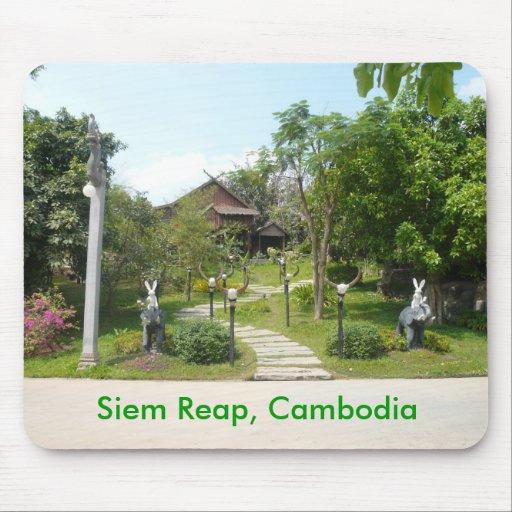Centro camboyano de la cultura alfombrillas de raton