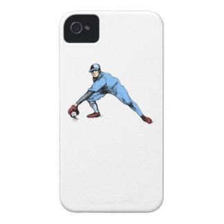 Centro campo del béisbol Case-Mate iPhone 4 protectores