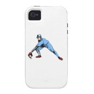 Centro campo del béisbol Case-Mate iPhone 4 fundas