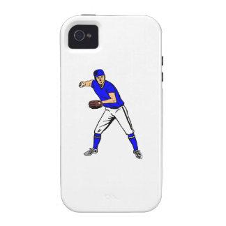 Centro campo del béisbol iPhone 4/4S carcasa