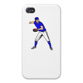Centro campo del béisbol iPhone 4/4S carcasas