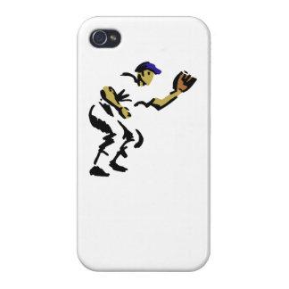 Centro campo del béisbol iPhone 4 carcasa