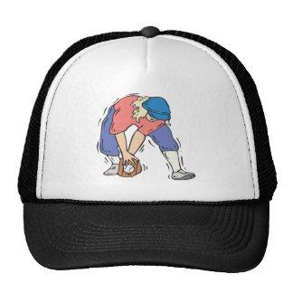 Centro campo del softball gorras
