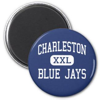 Centro Charleston de los arrendajos azules de Char Imán Redondo 5 Cm