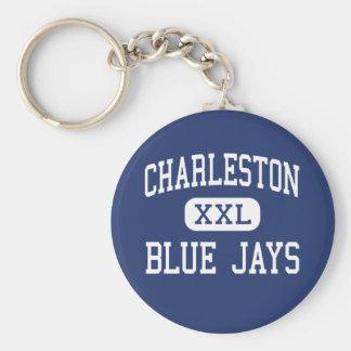 Centro Charleston de los arrendajos azules de Char Llavero Redondo Tipo Pin