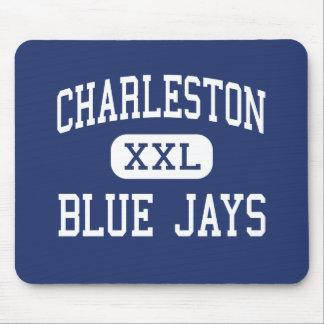 Centro Charleston de los arrendajos azules de Char Alfombrillas De Ratones