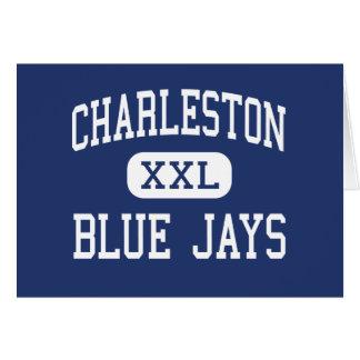 Centro Charleston de los arrendajos azules de Char Tarjeta De Felicitación
