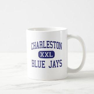 Centro Charleston de los arrendajos azules de Char Taza Básica Blanca