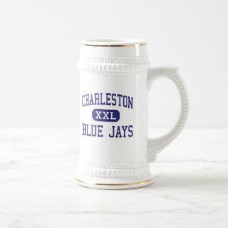 Centro Charleston de los arrendajos azules de Char Jarra De Cerveza