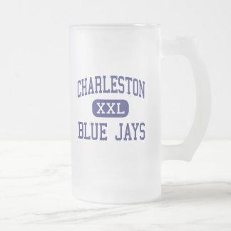 Centro Charleston de los arrendajos azules de Char Taza Cristal Mate