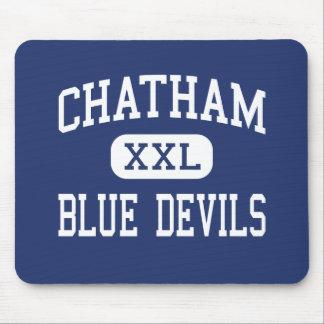 Centro Chatham de los diablos azules de Chatham Tapete De Ratones