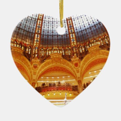 Centro comercial en París Adornos De Navidad
