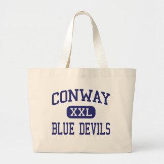 Centro Conway de los diablos azules de Conway Bolsas Lienzo