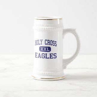 Centro cruzado santo New Orleans de Eagles Jarra De Cerveza