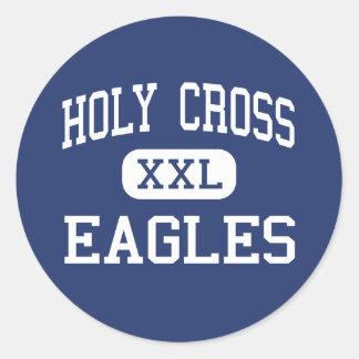 Centro cruzado santo New Orleans de Eagles Pegatina Redonda