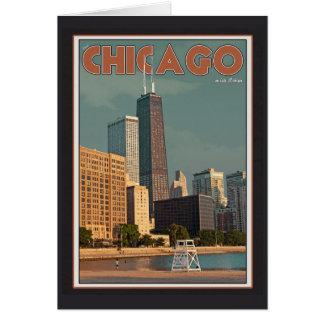 Centro de Chicago - de Juan Hancock Tarjeta Pequeña
