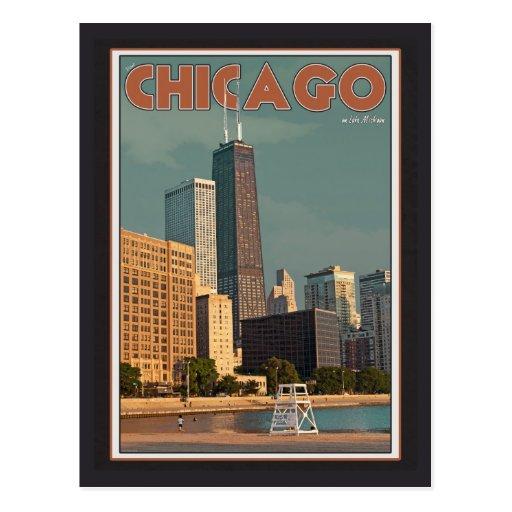 Centro de Chicago - de Juan Hancock Postales